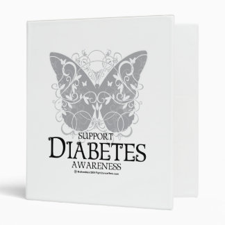 Diabetes Butterfly 3 Ring Binder
