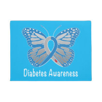 Diabetes Butterfly Awareness Doormat