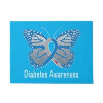 Diabetes Butterfly Awareness Doormat