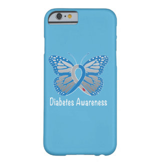 Diabetes Butterfly Awareness Ribbon Barely There iPhone 6 Case