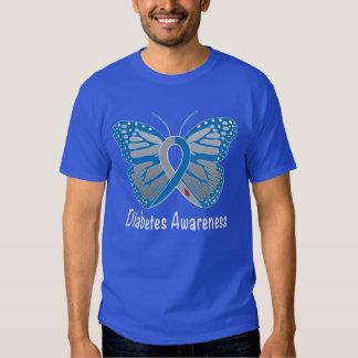 Diabetes Butterfly Awareness Ribbon T Shirt