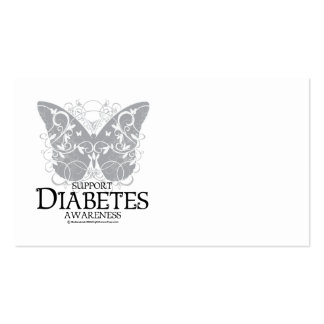 Diabetes Butterfly Business Card