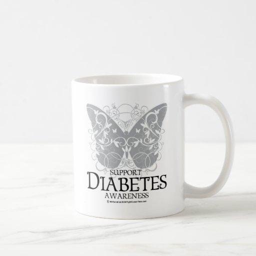 Diabetes Butterfly Classic White Coffee Mug