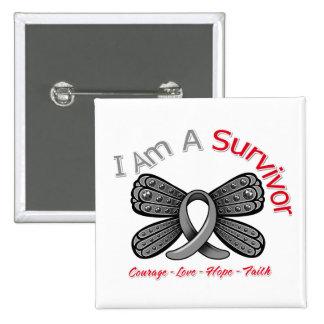 Diabetes Butterfly I Am A Survivor Pinback Button
