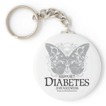 Diabetes Butterfly Keychain