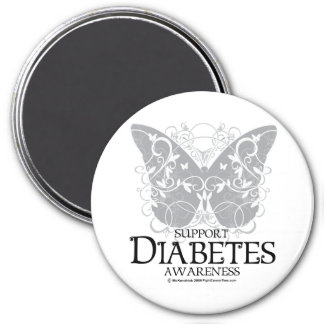 Diabetes Butterfly Magnet