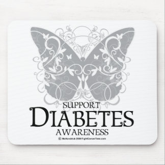 Diabetes Butterfly Mouse Pad