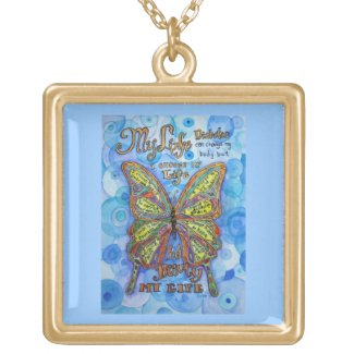 Diabetes Butterfly Poem Necklace Jewelry