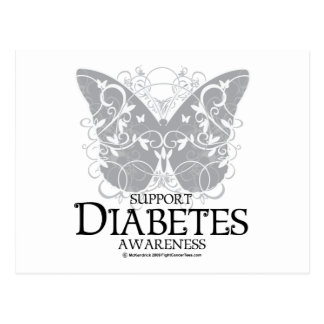 Diabetes Butterfly Postcard