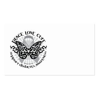 Diabetes Butterfly Tribal Business Cards