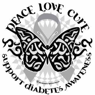 Diabetes Butterfly Tribal Statuette