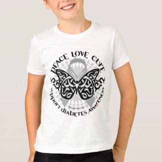 Diabetes Butterfly Tribal T-Shirt