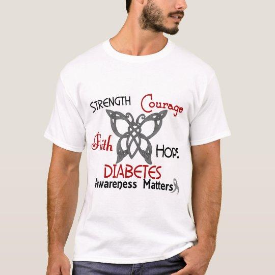 Diabetes Celtic Butterfly 3 T-Shirt