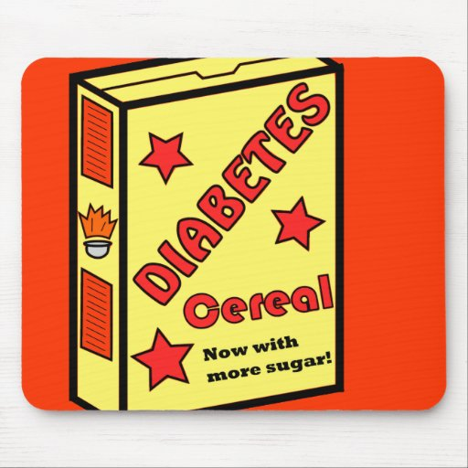 Diabetes Cereal Mouse Pads