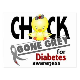 Diabetes Chick Gone Grey 2 Postcard