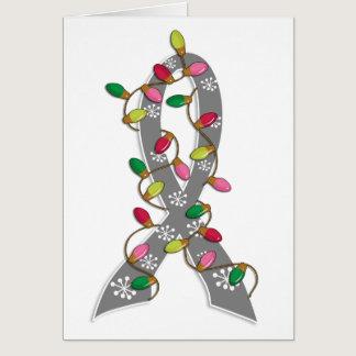 Diabetes Christmas Lights Ribbon Card