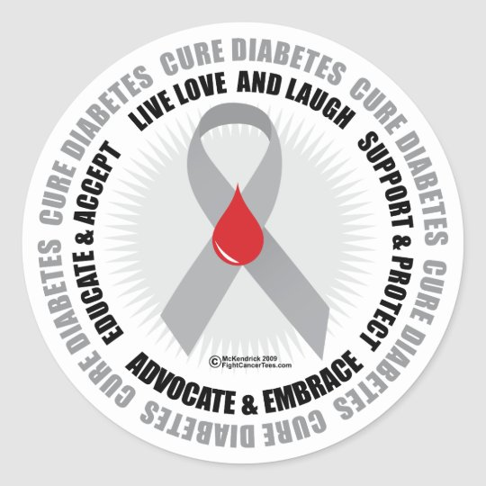 Diabetes Circle Classic Round Sticker