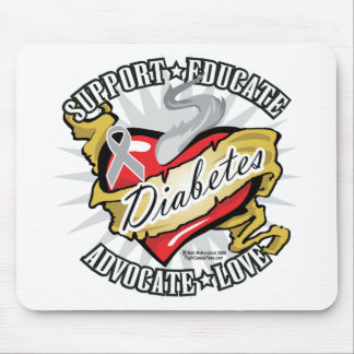Diabetes Classic Heart Mouse Pad