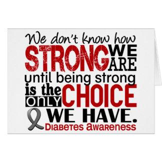 Diabetes cómo es fuerte somos felicitaciones