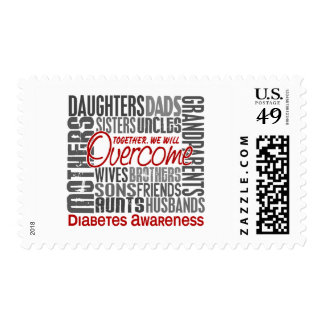 Diabetes cuadrada de la familia sello