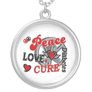 Diabetes de la curación 2 del amor de la paz colgante redondo