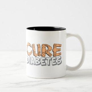 Diabetes de la curación taza de dos tonos
