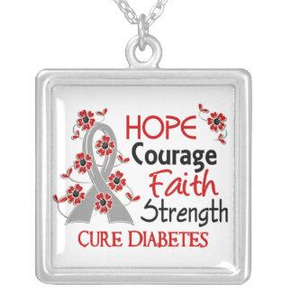 Diabetes de la fuerza 3 de la fe del valor de la e colgante cuadrado