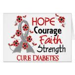 Diabetes de la fuerza 3 de la fe del valor de la e tarjetas