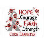Diabetes de la fuerza 3 de la fe del valor de la postal