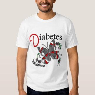 Diabetes de la mariposa 2 del vitral playera