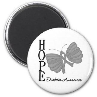 Diabetes de la mariposa de la esperanza imán de frigorífico