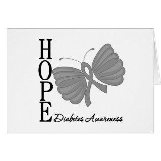 Diabetes de la mariposa de la esperanza felicitaciones