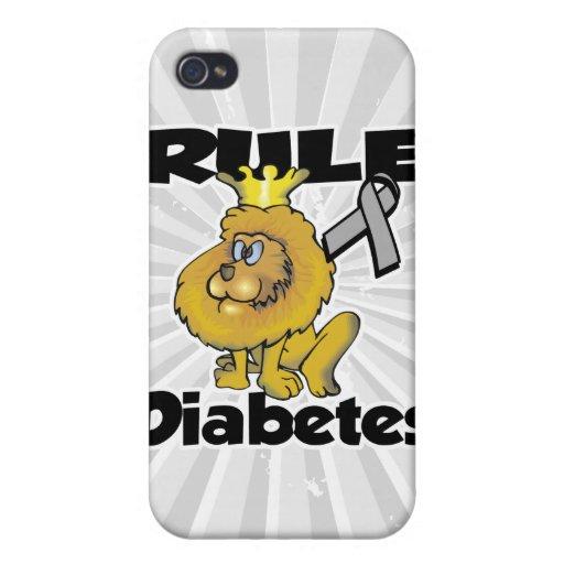 Diabetes de la regla iPhone 4 carcasa