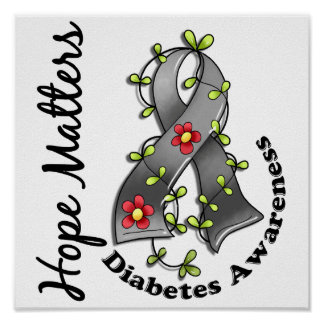 Diabetes de las materias de la esperanza de la cin póster
