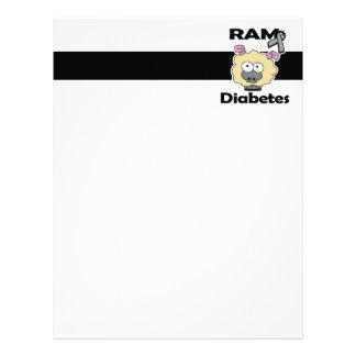 Diabetes de RAM Membretes Personalizados