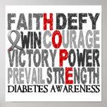 Diabetes del collage de la palabra de la esperanza posters