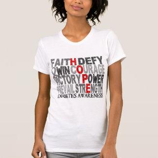 Diabetes del collage de la palabra de la esperanza camisetas