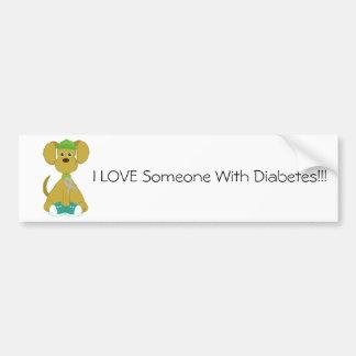 Diabetes Dog Bumper Sticker