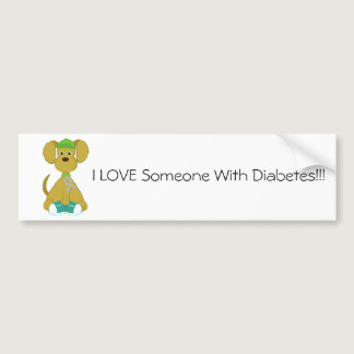 Diabetes Dog Bumper Sticker