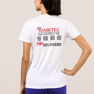 Diabetes/ejercicio de la T-Camisa-DFW de W Wicking