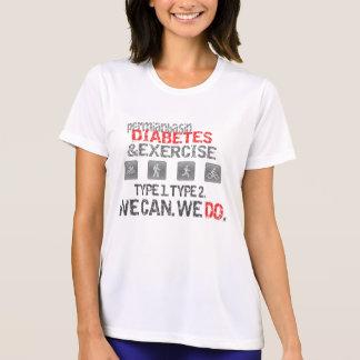 Diabetes/ejercicio T-Pérmicos del lavabo de Wickin Camiseta