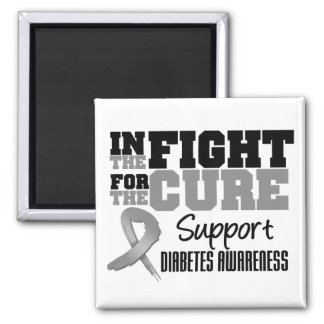Diabetes en la lucha para la curación iman de nevera