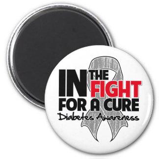 Diabetes en la lucha para una curación imán de frigorífico