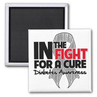 Diabetes en la lucha para una curación imán para frigorífico