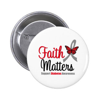 Diabetes Faith Matters Butterfly Ribbon Pins