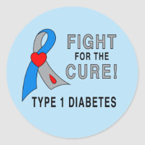 Diabetes: Fight For The Cure! Classic Round Sticker