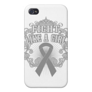 Diabetes Fight Like A Girl Fleurish iPhone 4/4S Covers