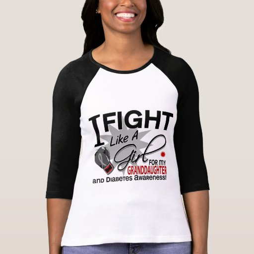 Diabetes Fight Like A Girl Granddaughter 11 T Shirts