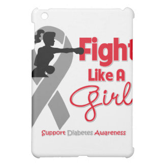 Diabetes Fight Like A Girl Knock Out Cover For The iPad Mini