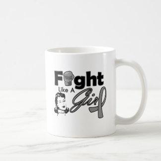 Diabetes Fight Like A Girl - Retro Girl Classic White Coffee Mug